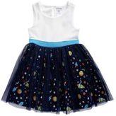 Sweet Heart Rose Sweetheart Rose Little Girls Textured Knit Mesh Dress