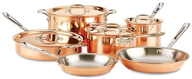All-Clad c2 COPPER-CLAD 10-Piece Cookware Set