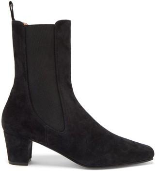 Paris Texas Square-toe Suede Chelsea Boots - Black