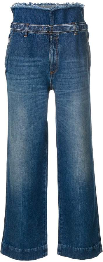 Maison Margiela drawstring high-waisted trousers