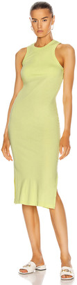 John Elliott Supima Racerback Midi Dress in Volt | FWRD