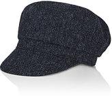 Yohji Yamamoto Men's Tweedy Wool Military Hat-GREY