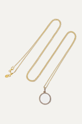 Loquet 18-karat Gold, Sapphire Crystal And Diamond Locket Necklace - one size