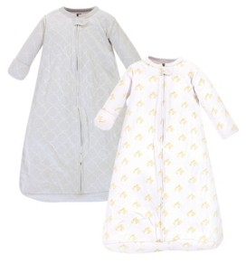 Hudson Baby Baby Girls and Boys Duck Long-Sleeve Wearable Sleeping Bag Sack, Pack of 2