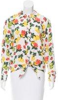 Equipment Floral Print Silk Blouse