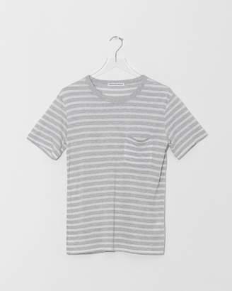 Alexander Wang Striped Short Sleeve Tee w/Pocket