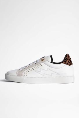 Zadig & Voltaire ZV1747 Flocked Suede Sneakers