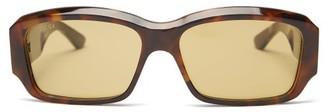 Gucci Rectangle Acetate Sunglasses - Green