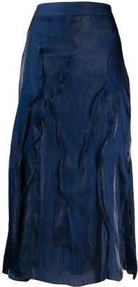 Kenzo Textured-Effect Midi Skirt