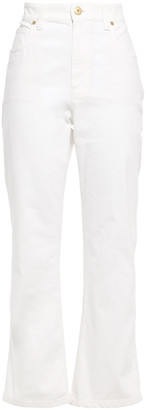 Brunello Cucinelli Bead-embellished High-rise Kick-flare Jeans
