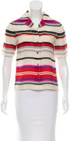 Derek Lam 10 Crosby Short Sleeve Striped Top
