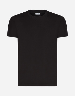 Dolce & Gabbana Round-Neck T-Shirt In Stretch Cotton