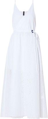 Emma Pake Broderie Anglaise Cotton Midi Wrap Dress
