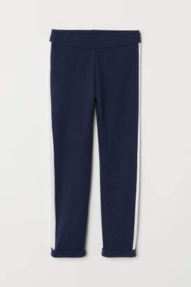 H&M Leggings with Side Stripes - Blue