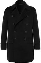 Giorgio Armani Cashmere-blend Double-breasted Coat - Black