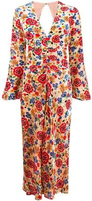 Rixo Mel floral midi dress