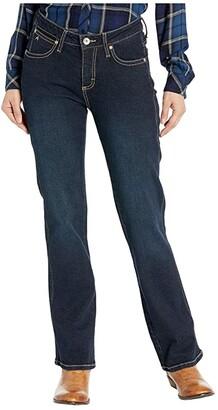 Wrangler Aura Mid-Rise Instantly Slimming Jeans (Dark Wash) Women's Jeans
