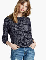 Lucky Brand Jacquard Sweater Jacket