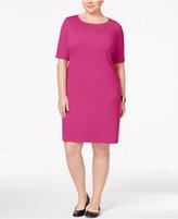 Karen Scott Plus Size Elbow-Sleeve T-Shirt Dress, Created for Macy's