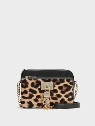 DKNY Elissa Top-zip Leopard Crossbody