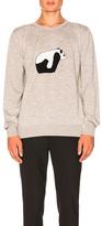 Loewe Panda Crewneck Sweater in Gray.