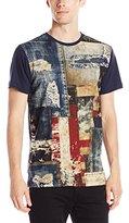 Akademiks Men's Patch Front Americana T-Shirt