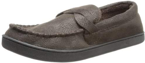Isotoner Men's Pebble Microsuede Moccasin Slipper with Braid