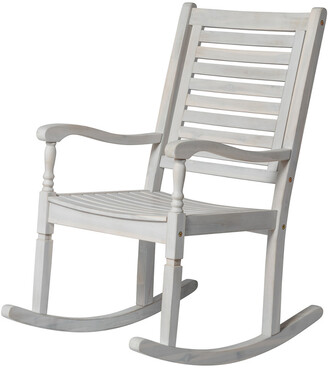 Hewson Outdoor Patio Acacia Wood Rocking Chair