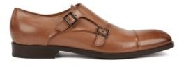 Italian-made monk shoes in vegetable-tanned leather