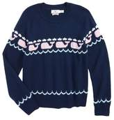 Vineyard Vines Toddler Girl's Whale Intarsia Sweater