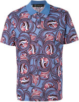 Versace patterned polo top - men - Cotton - S