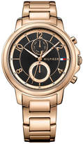Tommy Hilfiger Women's Rose Gold-Tone Stainless Steel Bracelet Watch 39mm