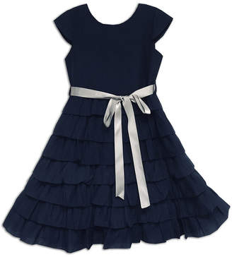 Joe Ella Navy Chiffon Dress