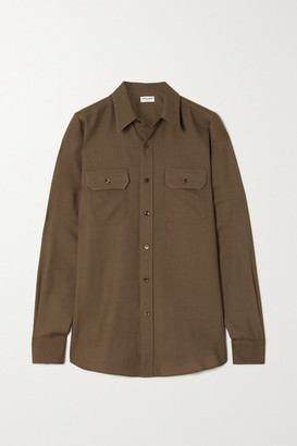 Saint Laurent Wool-twill Shirt - Green