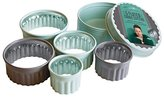 Jamie Oliver Bakeware Range Fluted Round Cookie Cutters, Stainless Steel/Harbour Blue, Set of 5