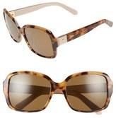Kate Spade Women's 54Mm Polarized Sunglasses - Black/ White