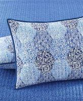 Martha Stewart Collection Indigo Dreams Quilted Standard Pillowsham