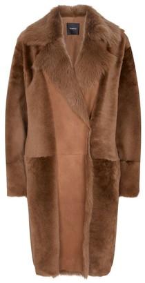 Theory Jathan Fur Collar Coat