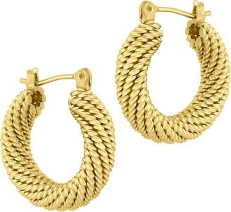 Electric Picks Jewelry Presley Twisted Hoop Earrings