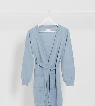 Mama Licious Mamalicious longline cardigan in blue