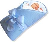 Blue Bow BundleBee Baby Wrap