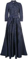Carolina Herrera floral-embellished silk gown