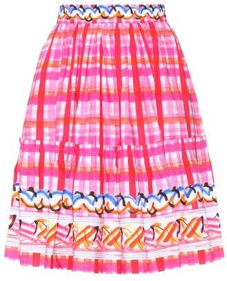 Peter Pilotto Printed cotton skirt