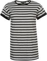 Miso Long Line Yarn Dye Boyfriend T Shirt Ladies