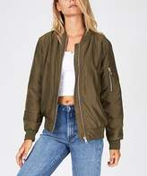 Insight Long Time Bustle Bomber Khaki