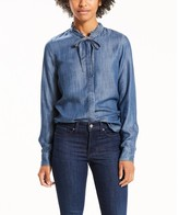 Levi's Denim Style Shirt with Pussy Bow