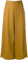 Simon Miller wide leg cropped pants - women - Linen/Flax - 0
