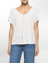 Calvin Klein Perforated Boho Short Sleeve Shirt