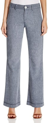 NYDJ Women's Petite Claire Trousers in Textured Linen