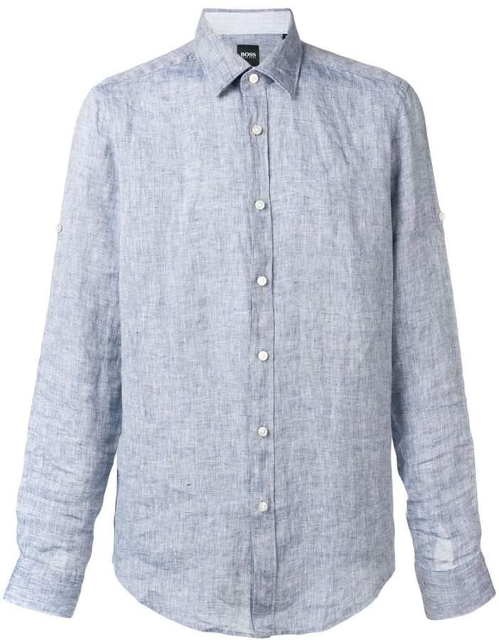 1de12dcd0 Hugo Boss Linen Shirt - ShopStyle UK